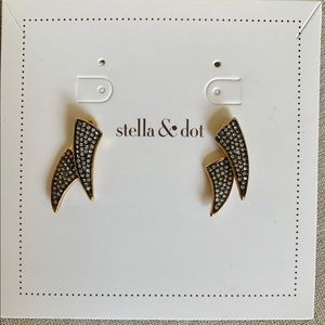 Stella & Dot Gold Pave Horn Ear Jackets